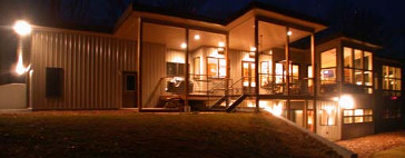 The first passive solar home I designed. Its in Blairsville, Georgia